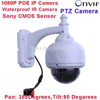 1080P POE Netwokr Camera H.264 Onvif 2.0 Megapixel HD 22 IR Dome Outdoor Network Pan Tilt IP Camera Fixed 6mm Lens
