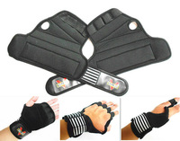 Free Shipping Pair Weight Lifting Training Gloves Grip Gripper Pads Wrist Strap Pads Barbell Dumbbell Gym Fitness Bodybuilding