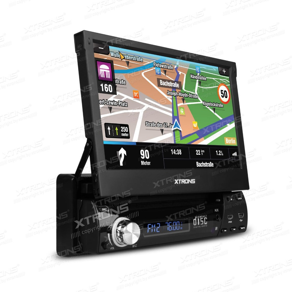 XTRONS '7'HD Touch Screen Car DVD player GPS Navigator wifi&3G 1din car DVD automotivo(China (Mainland))