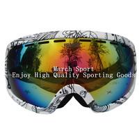 Fashion Myopia Goggles Eyewear Glasses For Ski Snowboard Climbing Black Frame Double-Layer UV Protection Men Women High Quality