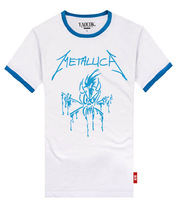 Shake METALLICA fashion cotton lovers rock t-shirt men's and women's T-shirt