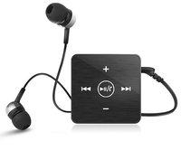 Ultra Lightweight Mini Super Bass Stereo Clip-on Sports Bluetooth Earphone Headset, High-Fidelity Real Stereo Bluetooth Box Kit