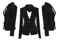 2014 new female fashion blazer outerwear shoulder pads suit plus size Women's Clothing business Suits