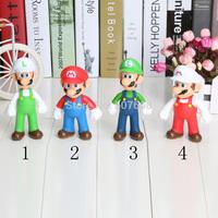 Mario and Luigi 2pcs/lot  5''12.7cm PVC Super Mario and Luigi donkey kong Action Figures mario 4 styles Gift