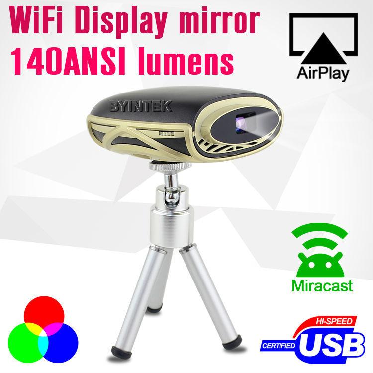 1700mAh Battery 500 lumens HDMI MHL DLNA Miracast Micro Pocket Pico Mini LED Projector with wifi-display(China (Mainland))