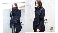 New fashion 2014 Autumn and Winter jacket Women's coat  Slim woolen jacket hot selling plus size big size coat free shipping