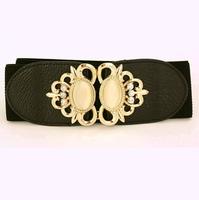Free shipping new Korean wide pearl elastic women belt brand design leisure rhinestone woman/lady waist belts crystal girl belts