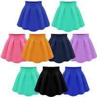 New Neon color Chiffon Skirt Woman Skirts High Waist Pleated Short Skirts Fashion Ball Gown Mini Skirt For Woman