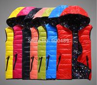 L/3XL Autumn and winter plus size vest Women fashion winter with hood vest ladies vest jacket woman veste waistcoat