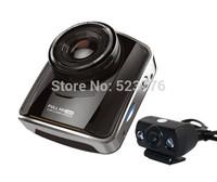 "Dual Lens Car DVR 1080P Full HD Car Camera Car Black Box with 2 Cameras 2.4"" TFT LCD WDR H.264 Night Vision Carcam"