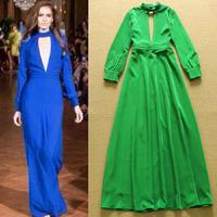 2014 runway dresses women high quality long dresses brand dresses