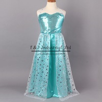 Retailer New Frozen Party Dresses Girls Queen Elsa Anna Princess Dresses Kids Sequin Dresses Lace Flower Christmas Dress