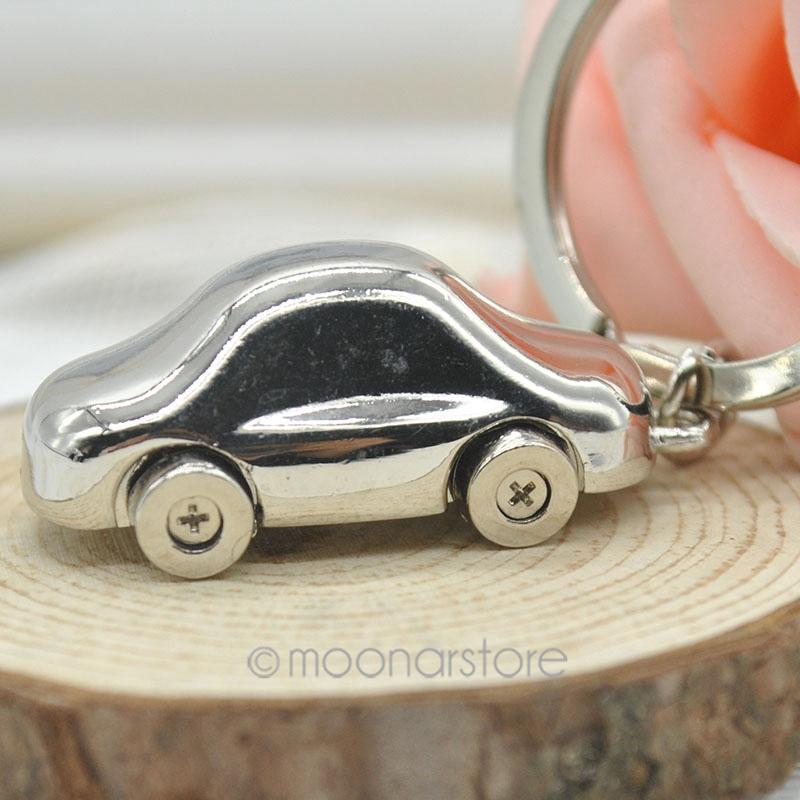 2014 Fashion Alloy Mini Car Model Styling Keychain Cute Versatile Metal Key Ring Key Chain 2X MHM135(China (Mainland))