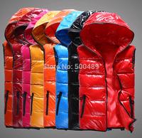 Autumn and winter  2014 Cotton Padded Vest Diamonds Casual Down Jacket Coat plus size vest Women black jacket woman veste