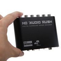 Free Shipping 51R Audio Decoder Digital Dol-by DTS/AC3 Optical to 5.1 Analog Audio Gear Sound Decoder SPDIF
