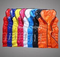 Women 2014 Autumn Cotton Padded Vest Diamonds Casual veste Down Jacket Coat Clothing Wear colete feminino women's fashion vests