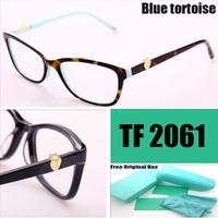 Original brand TF eye glasses women glassses frame Golden locks Decorative myopia glasses 6 colors frame oculos de grau women