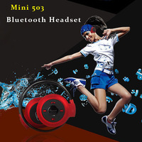 Mimi 503 Headphones Bluetooth Stereo Headset Sports Neckband Ear Hook Earphone with Hands-free A2DP Music For Mobile Phone