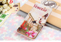 Book Style Wallet Leather Case Cover For Sony Xperia M2 S50H Phone Bag Flip Card Holder Stand