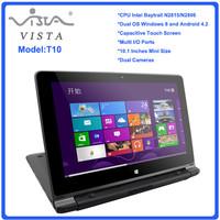 10.1inch mini laptop notebook computer 2GB ddr3 500GB HDD Intel dual core WIFI camera free shipping
