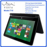 Cheap New 10.1 inch notebook computer mini laptop PC Intel D2806 dual core 2GB DDR3 500GB HDD Webcam