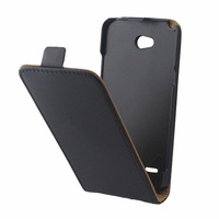 50pcs/lot Vertial Flip PU Leather Case Cover for LG L80 Magnetic Open Protector Covers Free Shipping
