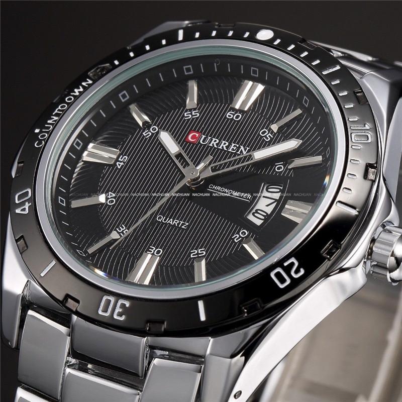 Curren Luxury Brand Stainless Steel Strap Analog Date Men's Quartz Watch Casual Watch Men Wristwatch relogio masculino(China (Mainland))