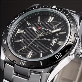 Relogio masculino роскошный Curren марка полный нержавеющей стали аналоговый дисплей дата мужская кварцевые часы свободного покроя часы мужчины наручные часы