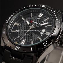 Curren Luxury Brand Stainless Steel Strap Analog Date Men s Quartz Watch Casual Watch Men Wristwatch