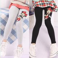 Wholesale girls autumn new arrival cartoon mouse leggings girl fashion candy color cotton pants 5 colors 888