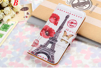 Wallet Leather Case For Samsung Galaxy S4 i9500 S4 mini  i9190 S5 i9600 S5 mini Galaxy S5 I9600 Handbag With Card Slot