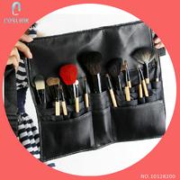 Professional Makeup Brush Waist Belt FakeFace 16 Pcs Fashion Senior Wool Wood Handle Make-up Tools for Artists Studios Stages