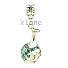 1 Piece 2014 New Arrival 925 Silver Bead Bottle Aquarius Pendants Fit Pandora Charms Bracelets necklaces