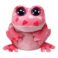 Free Shipping  Orignal  TY  Beanie Boos Stuffed  Animals Toys  Kawaii Pink Big Eyes Smitten Dolls For Kids Gifts 16CM