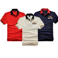 Top quality Aeronautica militare men 2015 new brand polo shirt shark air force one  camisetas male LA 1 POLOS