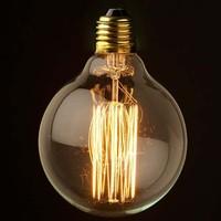 1900 Antique Vintage Lampe 12.50CM Large Edison Halogen light Bulb 40W 110V 220V G125 cage filament Tungsten,Free Shipping