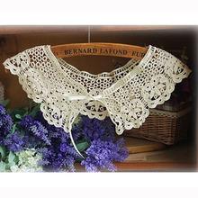 Hot Sale Women's Fashion Crochet Hollow Lace Detachable Collar Lace Fake Collar WF-521932(China (Mainland))