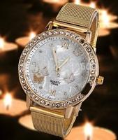 Free shipping  women dress watches women rhinestone watches diamond bracelet gemstone stainless steel watches
