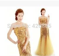 New arrival bride lace paillette slim fish tail formal dress female evening dress banquet long design costume
