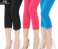 New Beige White Blue Fuschia Black Leggings Women Summer 2014 Casual Slim Pencil Legging Knitted Pants Plus Size 3XL SS14P005