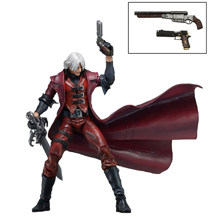 Animation Garage Kid CAPCOM Devil May Cry Collection Toys: NECA Action Figure PVC Dolls Gunslinger Dante Model Best Gifts(China (Mainland))