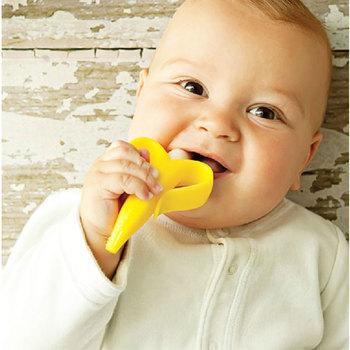 Lovely Soft Toothbrush Infant Baby Training Teething Toddler Banana Brush Kids#57627