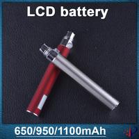 Electronic Cigarette Battery ego PassthroughBattery 650mah/900mah/1100mah ego battery LCD Wholesales