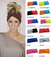 Stretch Turban Headband Twist Headband solid and two tone color fashion women Hair Accessories(China (Mainland))