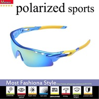 High elastic outdoor sunglasses men polarized cycling,250T color film Polaroid lenses sunglasses men polarized sports