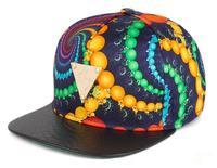 Colorful Triangle Flat Edge Caps Embroidery Hip-hop Hats Baseball Cap Hip Hop Snapback Basketball Full Cap for Cool Man