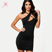 Summer 2014 High Fashion Women Irregular Style Black Mini Dresses Sexy Beautiful Victoria Vestidos LC21580