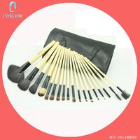 18 Pcs Senior Makeup Brushes Pack FakeFace Genuine Goat Hair Cosmetic Tools Kit Black/Pink