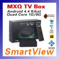 1pc Original MXQ Amlogic S805 Quad Core XBMC TV Box Android 4.4 Kitkat 4K 1GB 8GB WIFI Airplay Miracast 3D Free Shipping