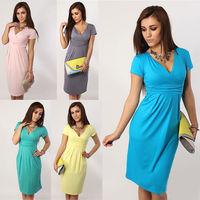 2014 new fashion v neck women dress Pregnant sexyBeautiful dress